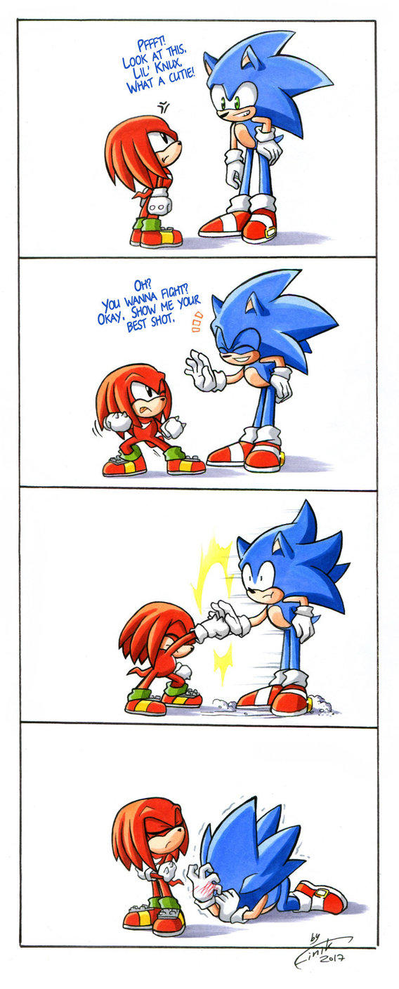 Even Classic Knuckles Doesn T Chuckle Sonic The Hedgehog Know Your Meme