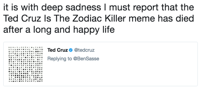 Ted Cruz Zodiac Killer Know Your Meme
