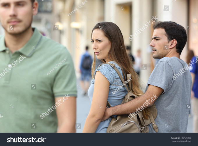 Girlfriend checking out other guys