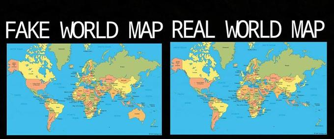 Australia is not real know your meme fake world map real world map australia text map world gumiabroncs Gallery