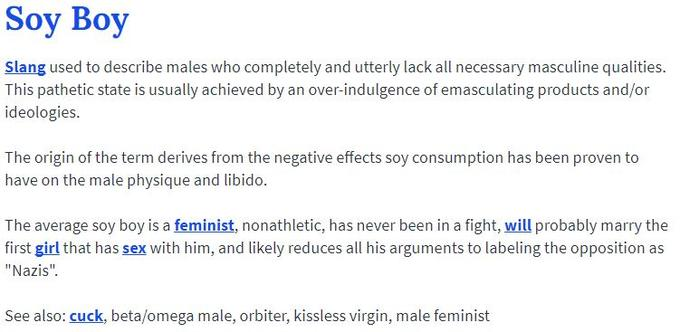 Soy Boy Definition On Urban Dictionary