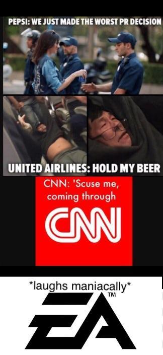 Pepsi Vs United Airlines Vs Cnn Vs Ea Star Wars Battlefront