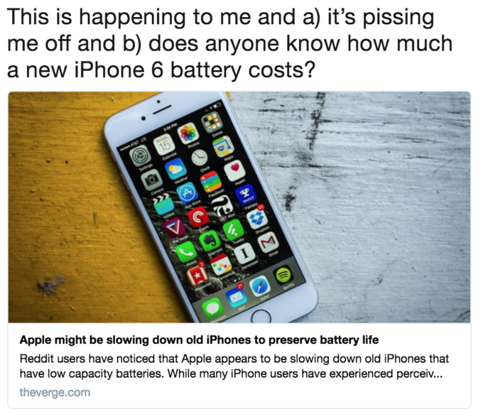 Apple iPhone Battery Controversy | Know Your Meme