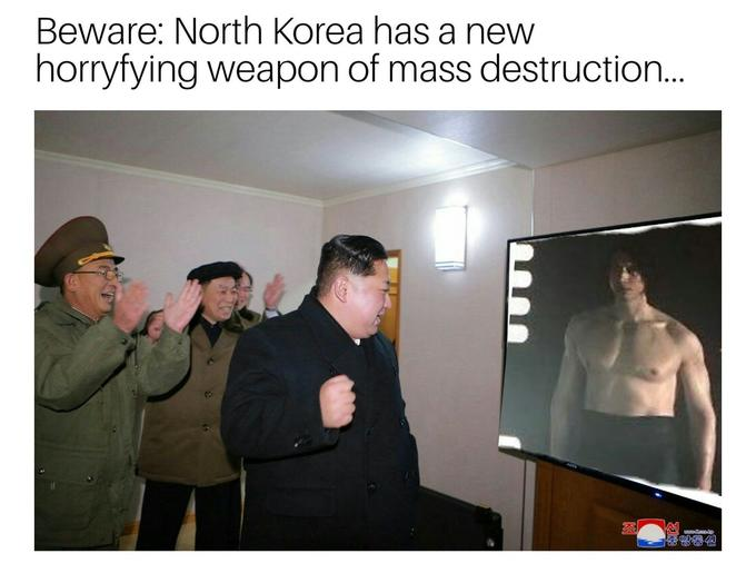 Ben Swolo the massive shirtless Kylo Ren as North Korea's new weapon