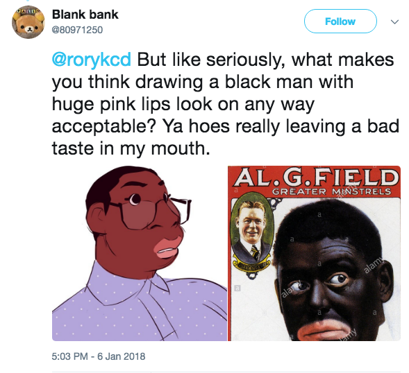 Person meme black racist