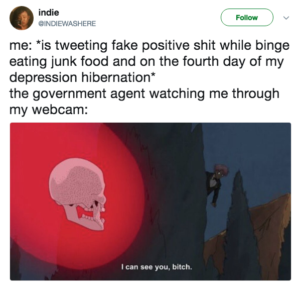 Government Agent Watching Me | Know Your Meme