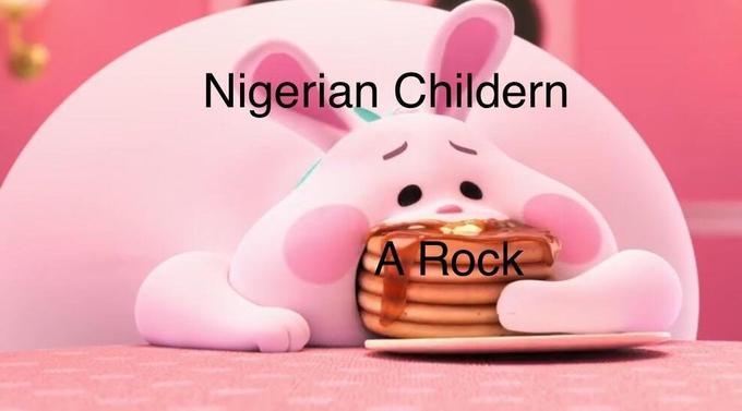 Pink Rabbit Eating Pancakes Know Your Meme