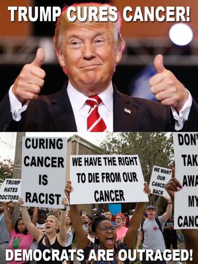 trump cures cancer meme