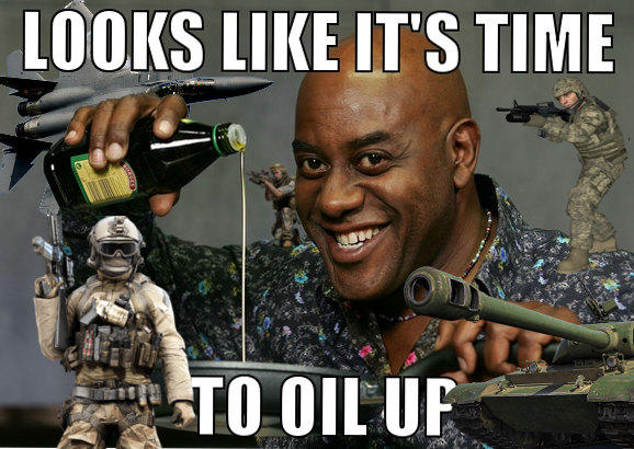 Ainsley Harriott Needs Some Freedom With That Oil America Invading For Oil Know Your Meme It operates in html5 canvas, so your images are created instantly on your own device. america invading for oil