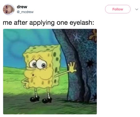 Eyelash Tired Spongebob Know Your Meme