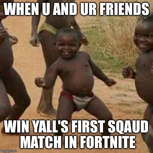 when u and ur friends win yall sfirst sqaud match in fortnite - dog playing fortnite meme