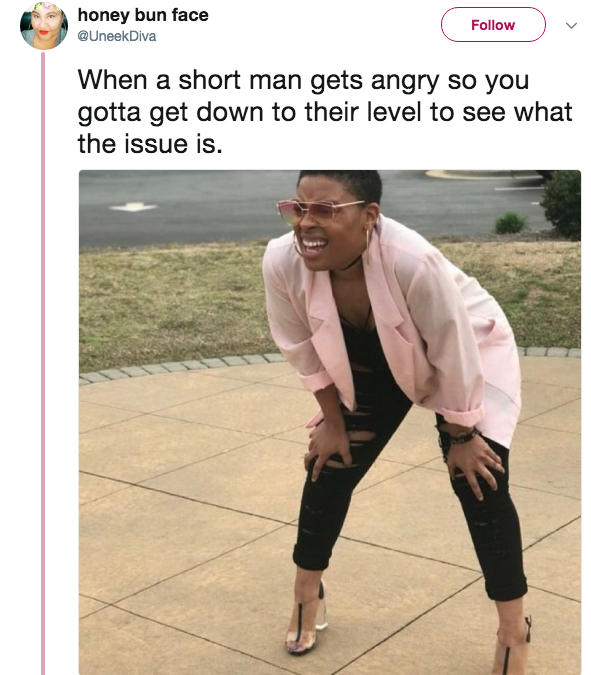 Short Man Squinting Woman Know Your Meme