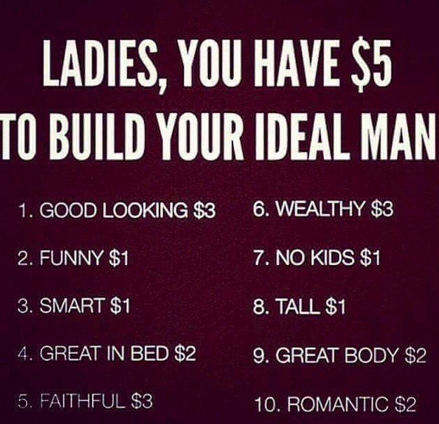 You Have 5 To Build The Perfect Man Parodies Know Your Meme