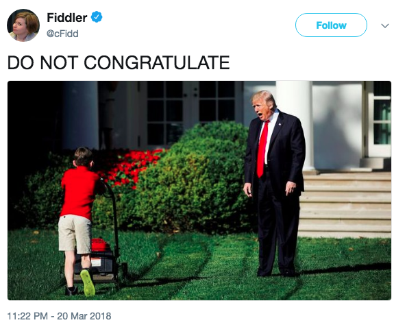 Trump Yelling At Lawn Mowing Boy Know Your Meme