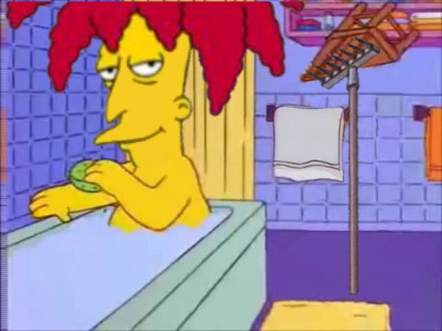 Bart fucking his mother as the pins her down on the bed