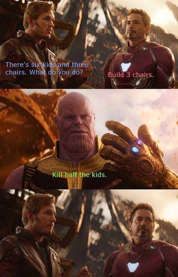 Kill half the kids Avengers Infinity War Know Your Meme