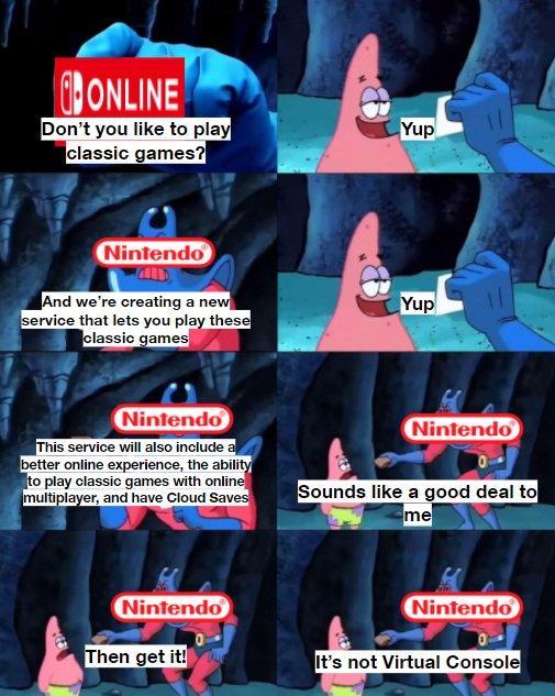 It's not virtual console   Nintendo   Know Your Meme