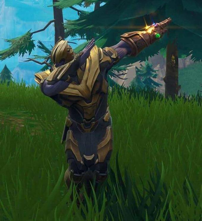 image result for thanos dabbing fortnite - skin do thanos fortnite