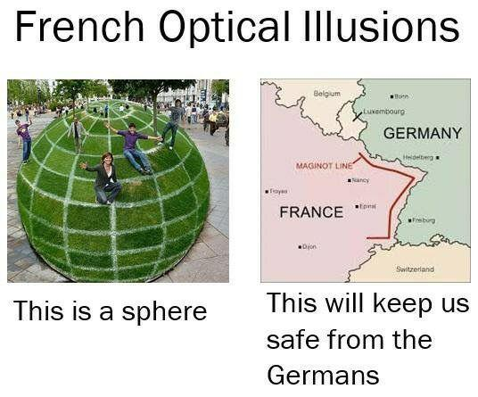 French Optical Illusion World War Ii Know Your Meme