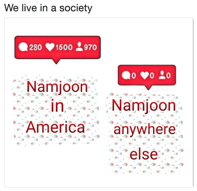 We live in a society 280 1500970 Namjoon Americaanyhere else text font