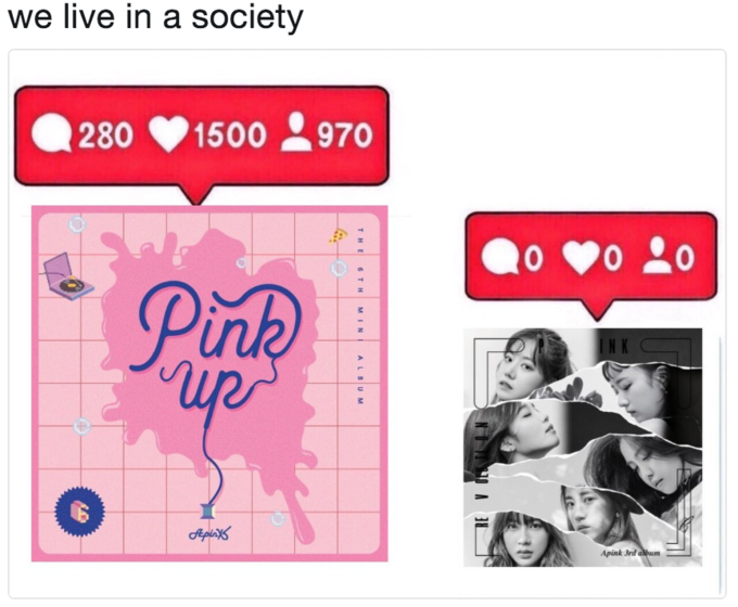 we live in a society 280 1500 970 N K Apink 3rd album text pink