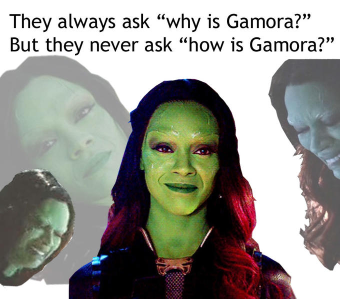 why is gamora know your meme
