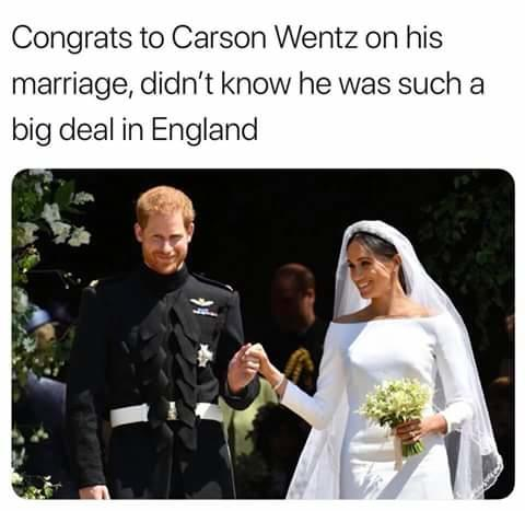 Carson Wentz Wedding.Who Knew Royal Wedding Of Prince Harry And Meghan Markel Know