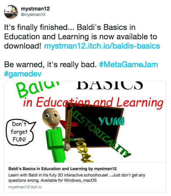 Baldi's Basics in Education and Learning | Know Your Meme
