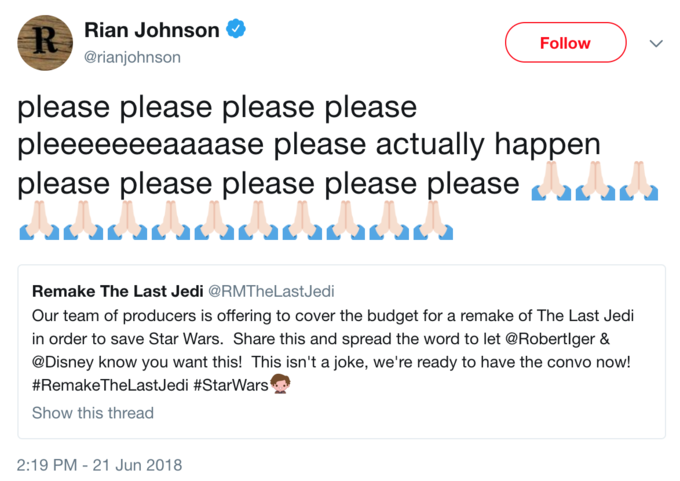 Rian Johnson Red Letter Media.Star Wars The Last Jedi Know Your Meme