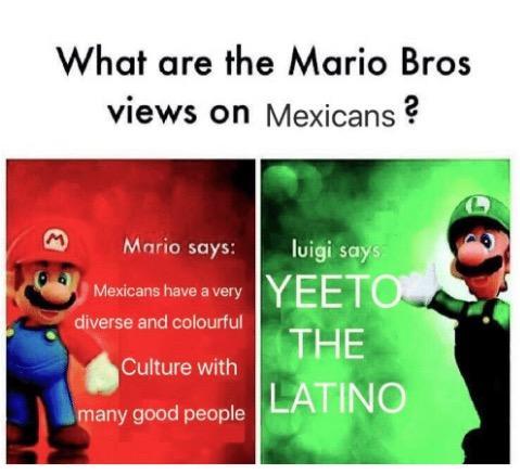 Xenophobic Mario Bros Views Know Your Meme