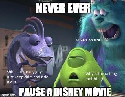 Never Pause A Disney Movie Monsters Inc Know Your Meme