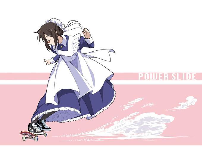 POWER SLIDE clothing anime cartoon purple fictional character joint