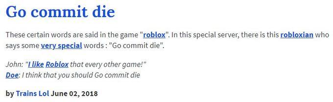 Go Commit Die | Know Your Meme