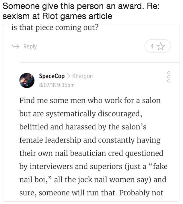 Sexual harassment stories reddit league