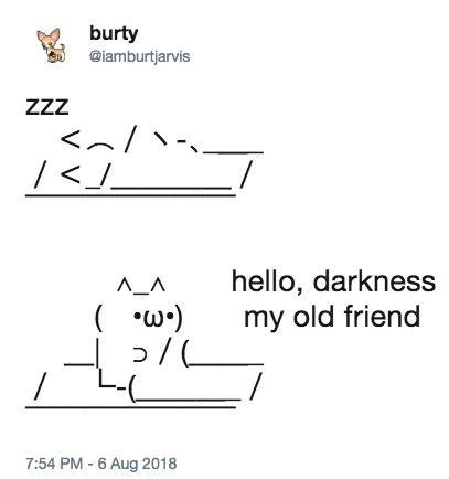 Sleeping ASCII Cat | Know Your Meme