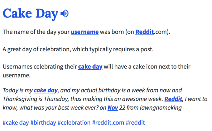 Cake Day | Know Your Meme