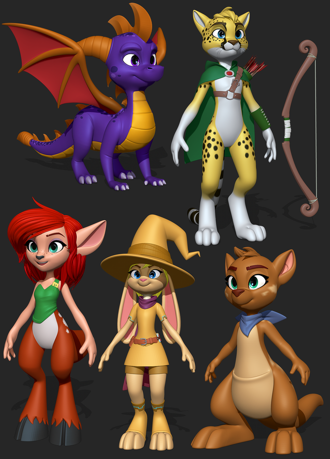 Spyro Models By Lemurfeature Spyro The Dragon Know Your Meme