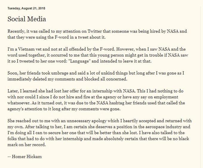 NASA Internship Twitter Controversy | Know Your Meme