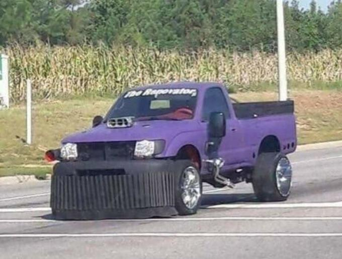 Thanos car vehicle pickup truck truck off road racing automotive tire bumper automotive exterior