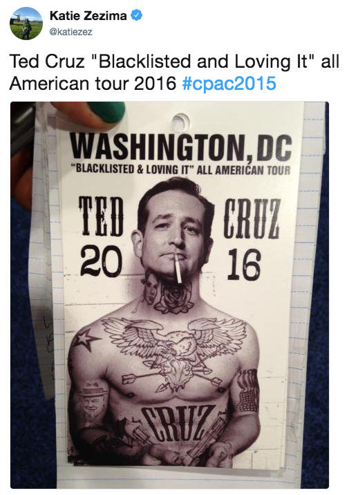 ted cruz blacklisted and loving it all american tour 2016