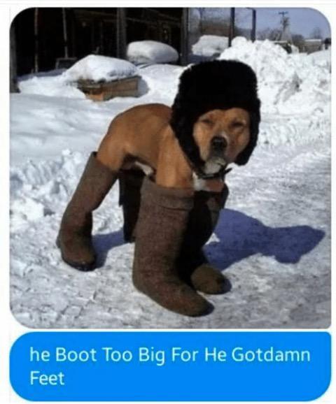 He is too big