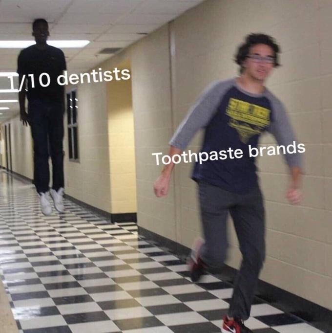 1O dentists Toothpaste brands standing shoulder