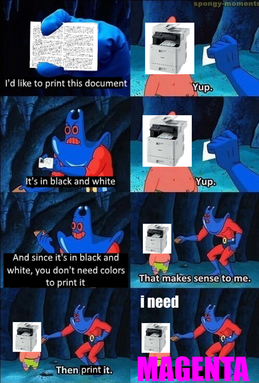 Printer Magenta | Know Your Meme