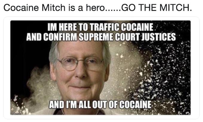 Cocaine Mitch Know Your Meme