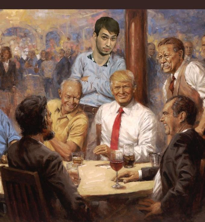 Trump S Republican Presidents Painting Know Your Meme