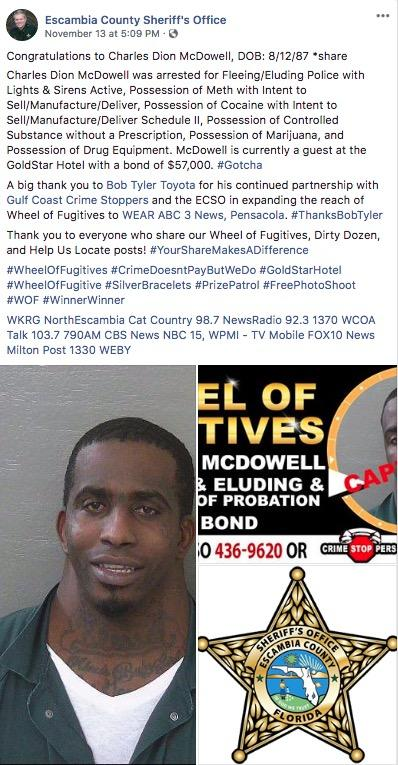 Charles McDowell's Wide Neck Mugshot | Know Your Meme