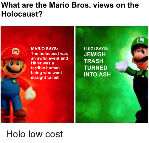 Mario Bros Views On The Holocaust Mario Bros Views Know Your Meme