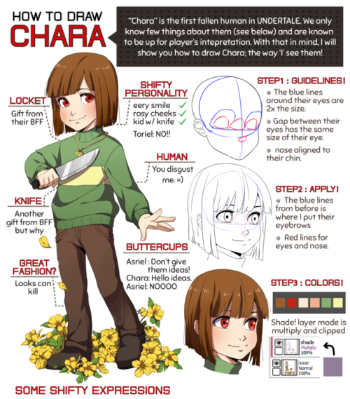 How To Draw Chara Undertale Know Your Meme