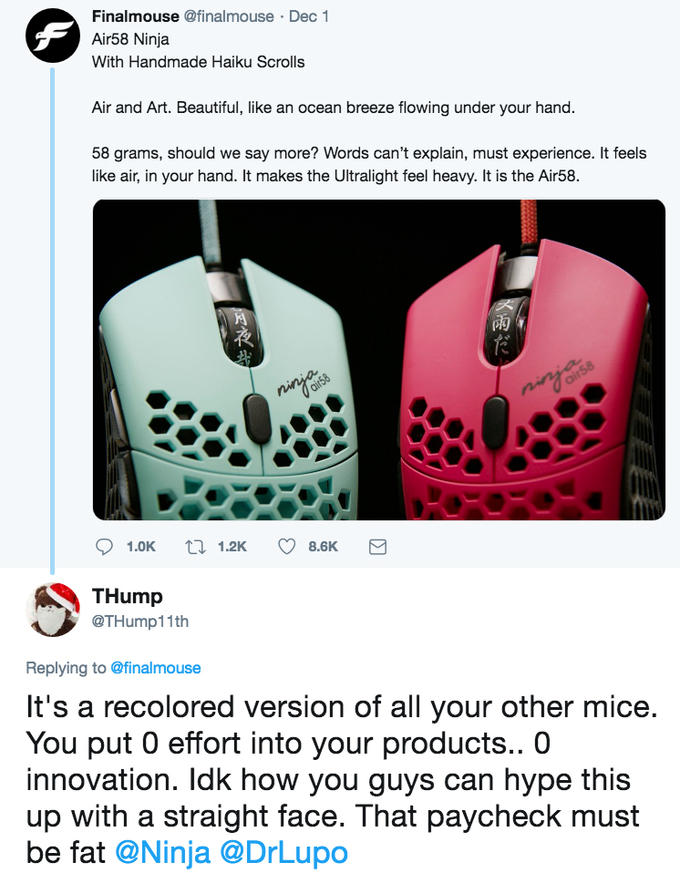 Air58 Ninja Gaming Mouse Know Your Meme