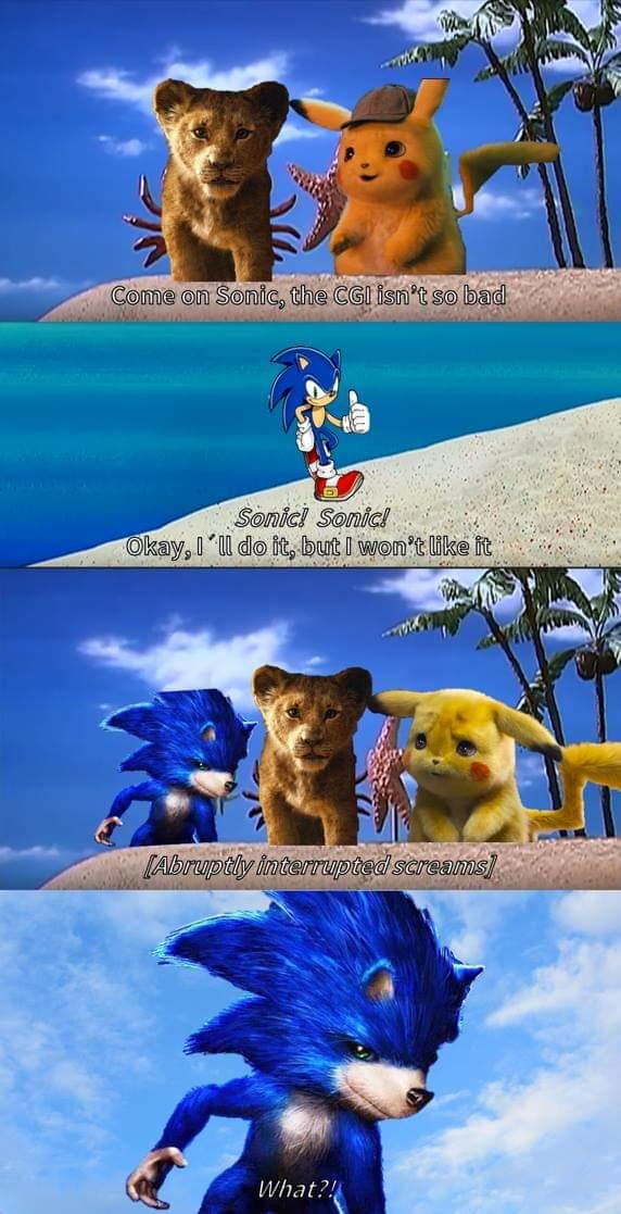 The Cgi Is Fine Sonic The Hedgehog Movie Poster Parodies Know Your Meme